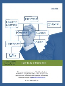 Sage Leaders Special Report - How to be a Better Boss